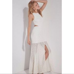 Ali & Jay for BHLDN Crystal Garden White Lace Gown